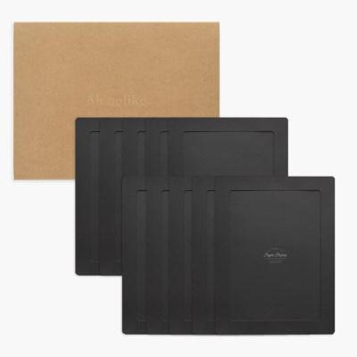 A4 포토프레임 스토리지 박스세트  - 블랙 10매