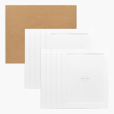 11x14 포토프레임 스토리지 박스세트  - 화이트 10매