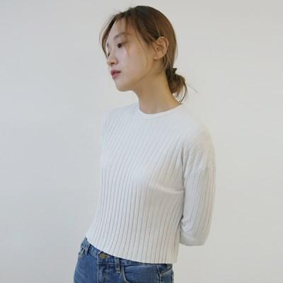 [MONDAY STUDIO] Daily crop golgi tee