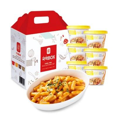 국떡 컵볶이 매콤까르보 선물박스6EA