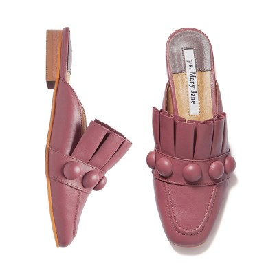 Royal pleats bloafer Mellow Pink_1cm (양가죽)