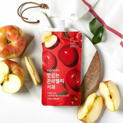 슈가로로 맛있는 곤약젤리 사과 10개입 (5kcal)