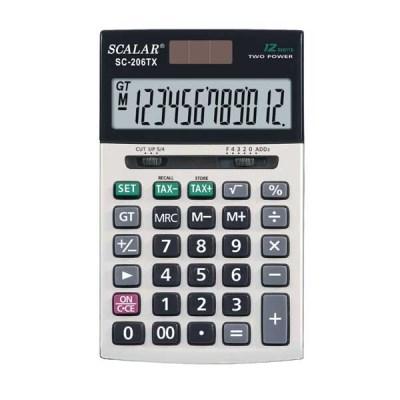 스칼라계산기 SC-206TX 세율계산 가감승제 액정표시