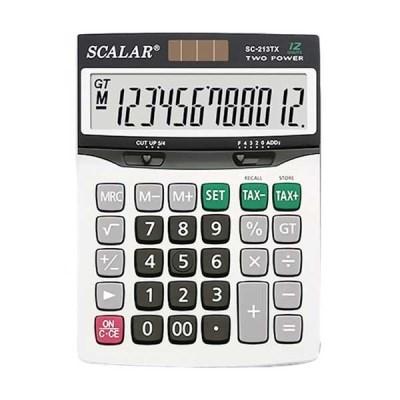 스칼라계산기SC-213TX 세율계산키 12자리 중대형