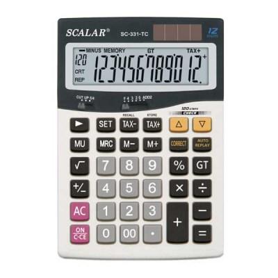 스칼라계산기 SC-331TC 12자리  체크리플레이 기능