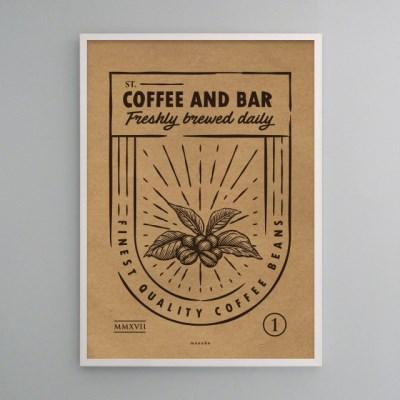 유니크 크라프트 인테리어 디자인 포스터 M 커피 앤 바1 카페