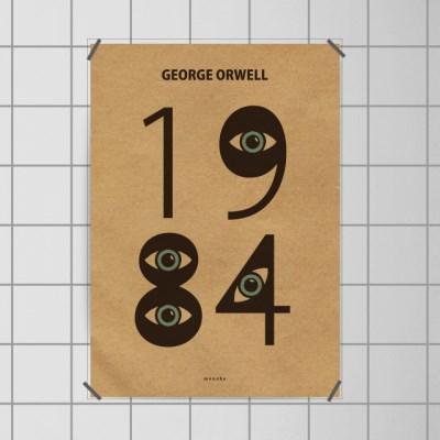유니크 크라프트 디자인 포스터 M 1984 조지오웰 문학