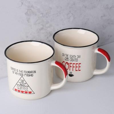 커피라이프 손잡이 머그컵 350ml 2p