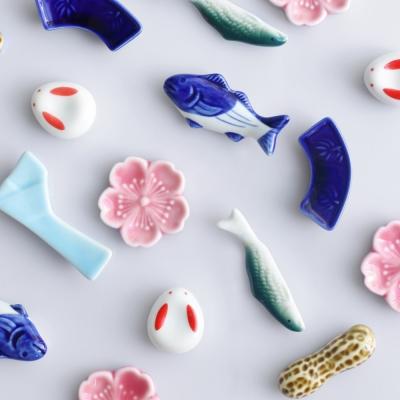 히츠키코보 일본풍 도자기 수저받침 젓가락 받침대