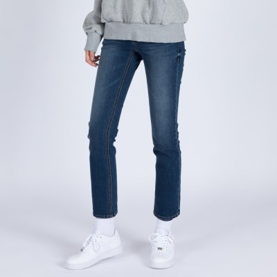 WOMENs SLIM STRAIGHT MID WASHED