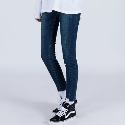 WOMENs SKINNY MID WASHED