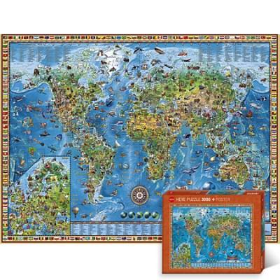2000조각 직소퍼즐▶ 어메이징 월드 지도 [HE29846]