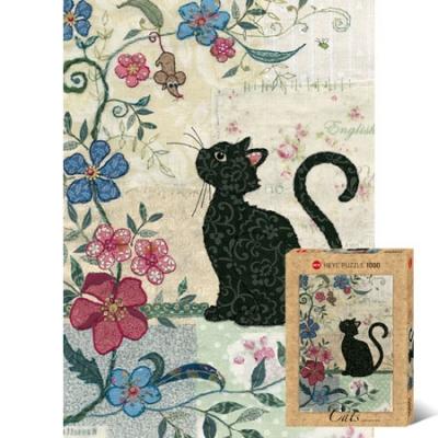 1000조각 직소퍼즐▶ 생쥐를 바라보는 고양이 [HE29808]