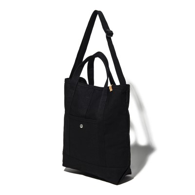 CANVAS 2WAY TOTE BAG - BLACK_(1113913)