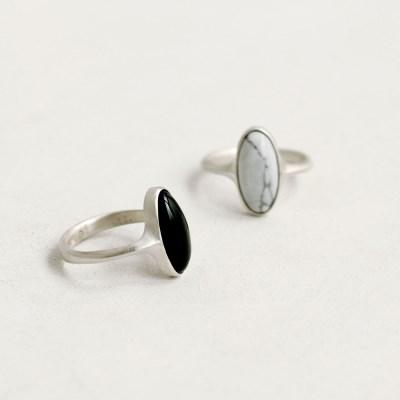 [normaldott] Oval form stone Ring