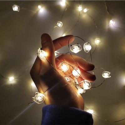 LED 가랜드 조명 철사형 고양이