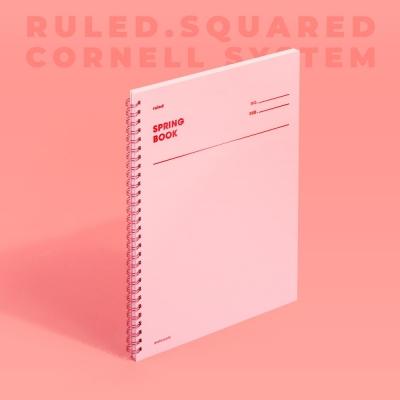 [모트모트] 스프링북 컬러칩 - 로즈쿼츠 (룰드/스퀘어드/코넬시스템)