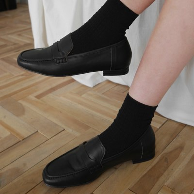Vintage stitch leather loafer