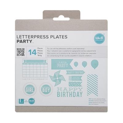 레터프레스 플레이트-Party