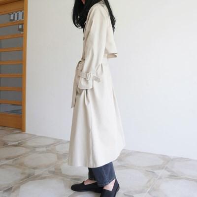 Overlap double trench coat