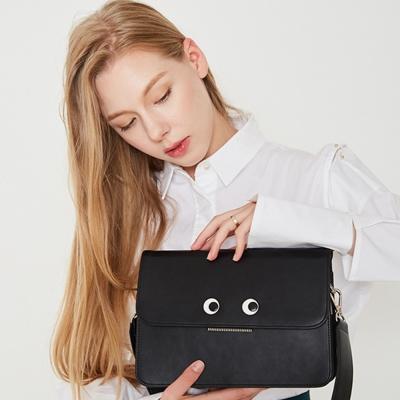 커스터마이징 얼굴 블랙 가방