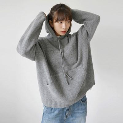 Comfy wool knit hood