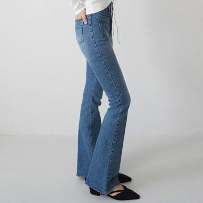 High boots-cut denim pants