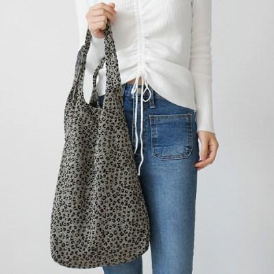 Glitter leopard eco bag