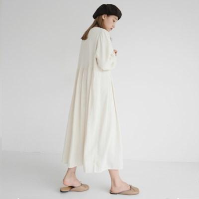 Simple cotton long dress