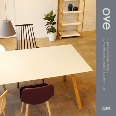 [큐엠]QM 오브(Ove) 테이블_리노 화이트