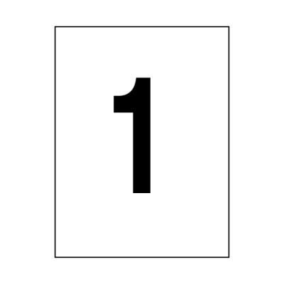 오피스라벨(1칸/100매/OfficeDEPOT)_(13303825)