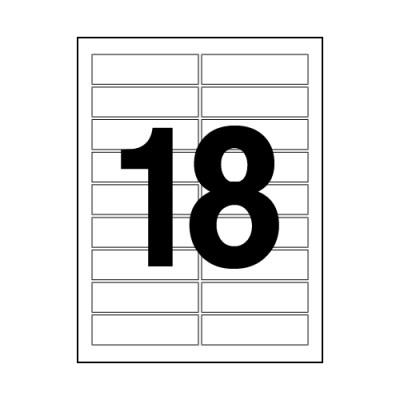 오피스라벨(18칸/100매/OfficeDEPOT)_(13303829)