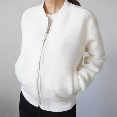 Daily smooth texture blouson jumper