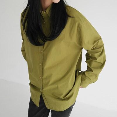 Crispy texture cotton shirt