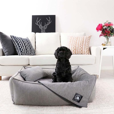 GRAY LAZY BUMPER BED