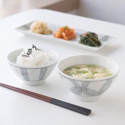 니코트 그레이 밥공기, 국그릇 1인세트 JAPAN