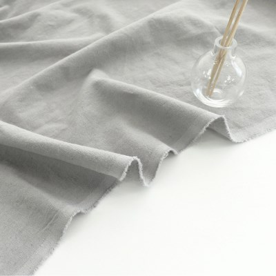 [Fabric] Gainsboro Gray Solid Linen (그레이 린넨)