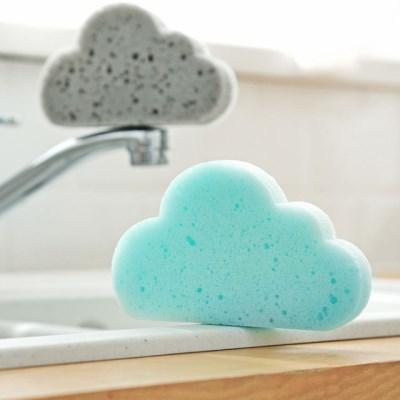 구름모양 양면 스폰지