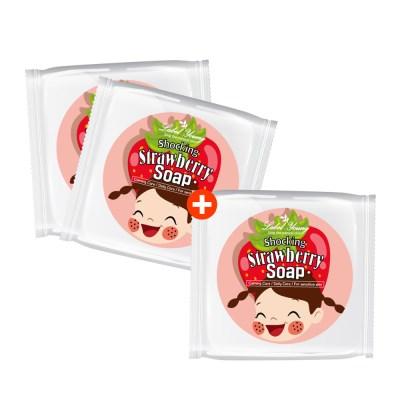 [라벨영] 쇼킹딸기비누 2+1