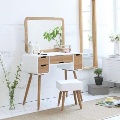 베르겐 콘솔세트(화장대+거울+의자)