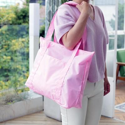 여행폴딩백 U902 핑크 데일리 토트백 숄더백 여행보조가방