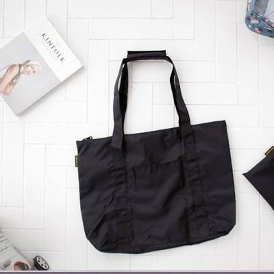 여행폴딩백 U902 블랙  데일리 토트백 숄더백 여행보조가방
