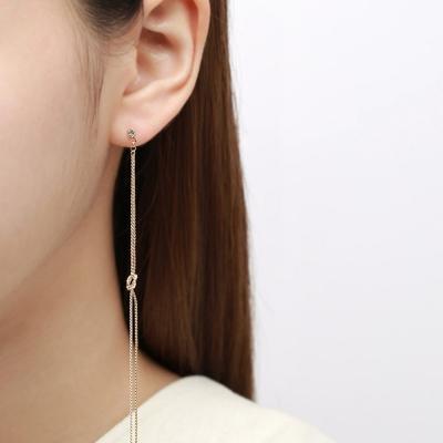 골드체인 숄더롱 꼬임 귀걸이