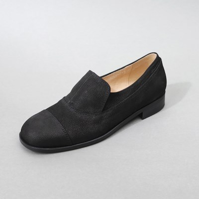 흰_HS1812 Nubuck Loafer_Black