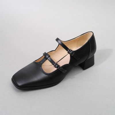 흰_Strap Shoes_Black
