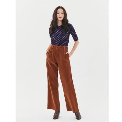 Corduroy Wide Pants in Brown