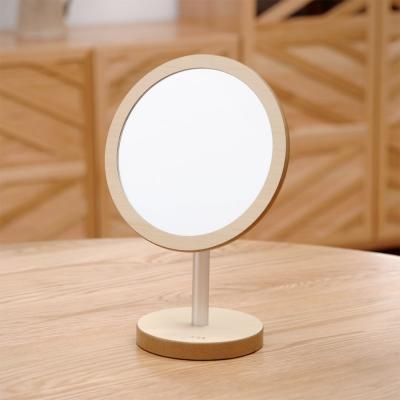 우드로하우스 헤닝스탁상거울 463(소) 우드 원형 거울