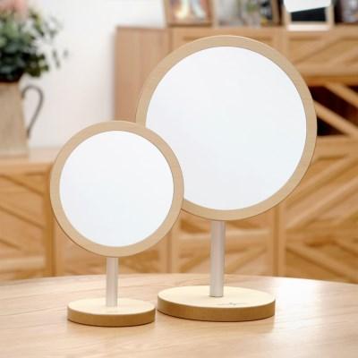 우드로하우스 헤닝스탁상거울 463(대) 우드 원형 거울