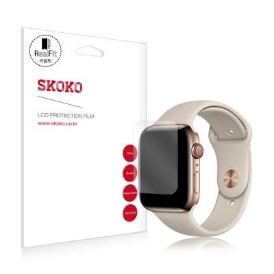 스코코 애플워치4 44mm 풀커버 리얼핏 액정보호필름 2매_(669934)