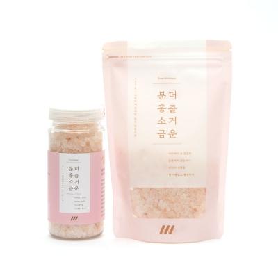 데콤포 더즐거운분홍소금 세트 (병+파우치)